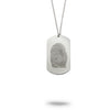 Custom Fingerprint Dog Tag Keychain or Necklace