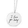 Custom Round Handwriting Necklace