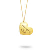 Gold Filled Custom Handwriting Heart Necklace