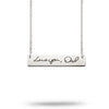 Custom Handwriting Bar Necklace Stainless Steel