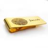 Personalized Custom Fingerprint Gold Plated Stainless Steel Money Clip