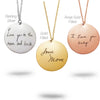 Gold Filled Handwriting Necklace