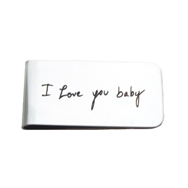 Personalized Custom Handwriting Stainless Steel Money Clip