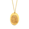 Custom Gold Filled Oval Fingerprint Necklace