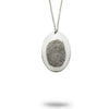 Custom Oval Fingerprint Necklace
