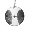 Custom Two Fingerprints Pendant Necklace