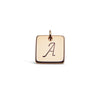 Square Charm Add On - Silver  - Gold - Rose Gold