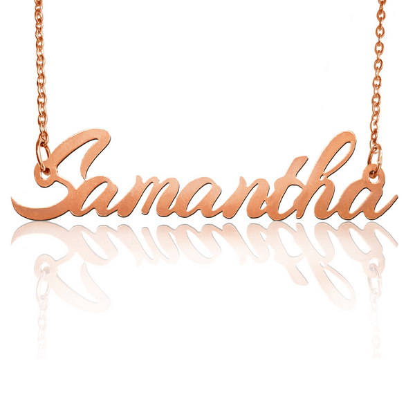 Custom Rose Gold Filled Name Necklace