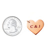 Custom Initials Small Heart Necklace Rose Gold Filled