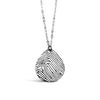 Custom Sterling Silver Teardrop Fingerprint Necklace