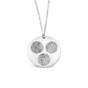 Custom Three Fingerprints Circles Necklace