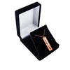 Custom Rose Gold Plated Handwriting Vertical Bar Necklace
