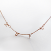 Custom Rose Gold Filled Letter Necklace