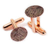 Custom Personalized Fingerprint Cuff Links Rose Gold Plated