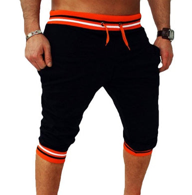Bermuda Shorts Black with Orange Waist - Fit N Funktion