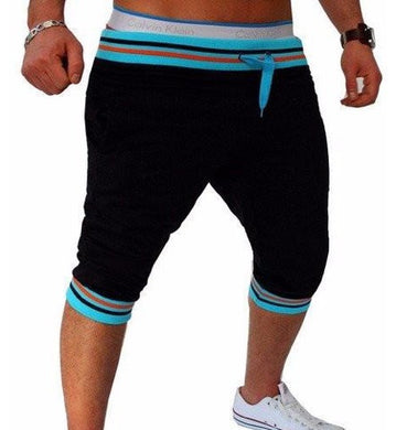Bermuda Shorts Black with Blue Waist - Fit N Funktion
