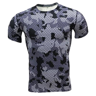 Quick Dry Grey/White Camouflage Army T-Shirt - Fit N Funktion