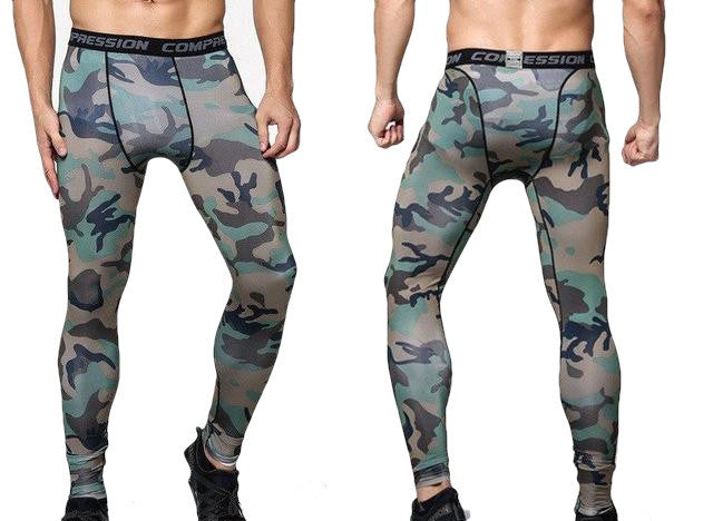 Fitness Compression Tights for Men Army