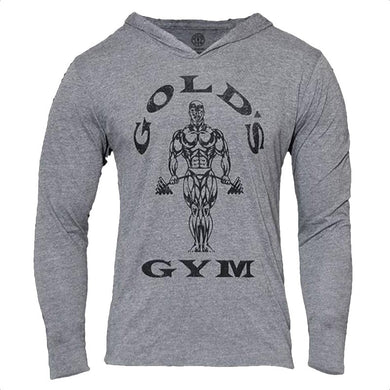 Gold's Gym Bodybuilding Long Sleeve Hoodie - Fit N Funktion