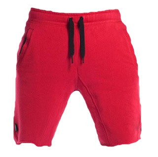 Gym Aesthetics Workout Shorts Red and Black