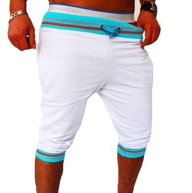 Bermuda Shorts White with Blue Waist - Fit N Funktion