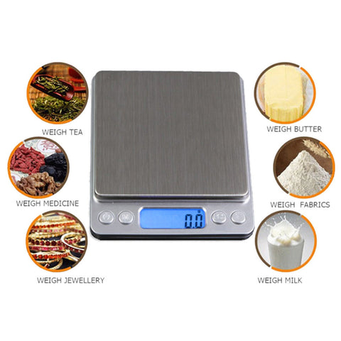 Portable Digital Kitchen Scale 1000g/0.1g - Fit N Funktion