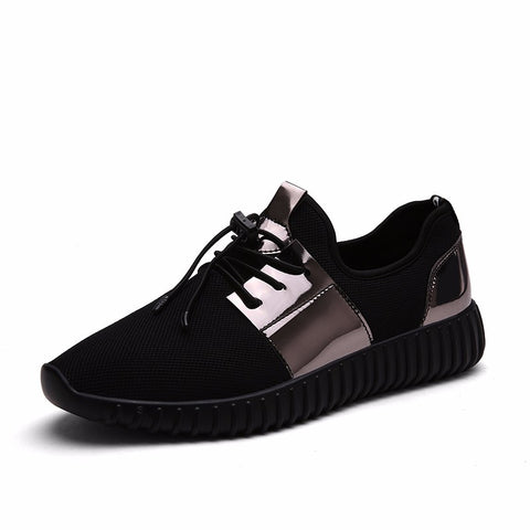 Mesh and Black Gloss Running Shoes - Unisex - Fit N Funktion