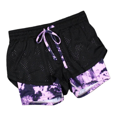 Running Shorts Tie Dye Purple - Fit N Funktion