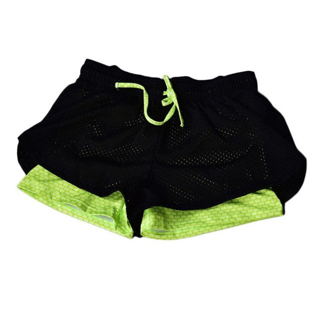 Running Shorts Fluorescent Green - Fit N Funktion