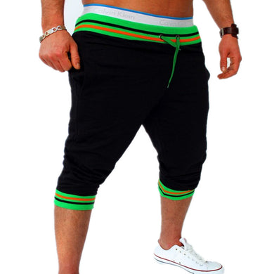 Bermuda Shorts Black with Green Waist - Fit N Funktion