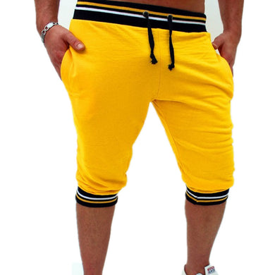Bermuda Shorts Yellow with Black Waist - Fit N Funktion