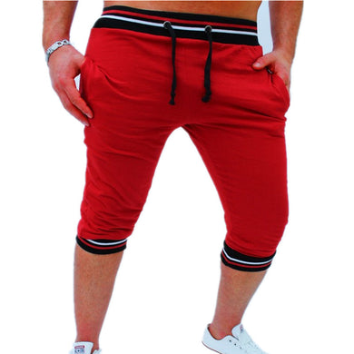 Bermuda Shorts Red with Black Waist - Fit N Funktion