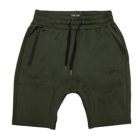 Olive Green Sweat Shorts