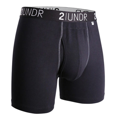 "2UNDR Swingshift 6"" Boxer Brief- Black/Grey"