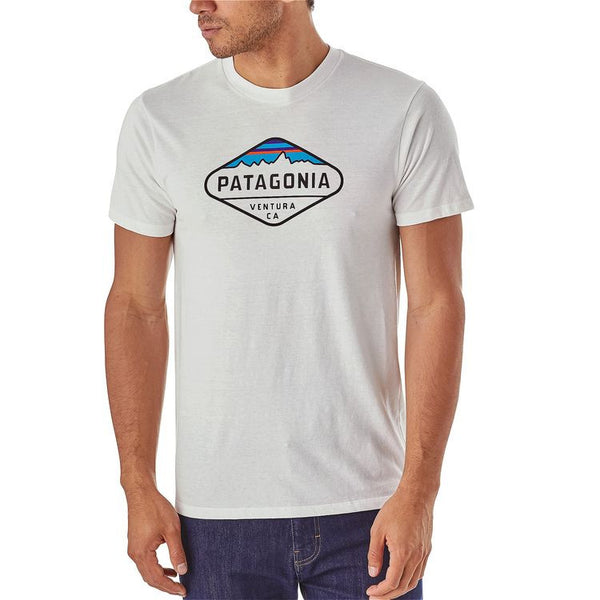 Patagonia Men's Fitz Roy Crest Cotton/Poly T-Shirt - Gorge Green