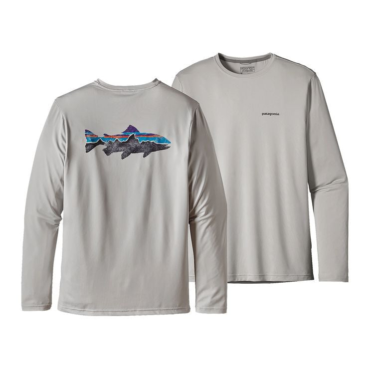 Patagonia Men's Graphic Tech Fish Tee - Taylored Grey