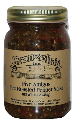 Five Amigos Fire Roasted Pepper Salsa