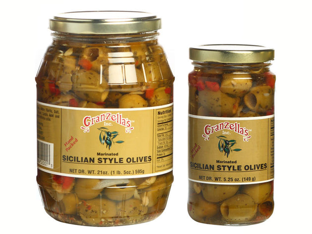 Marinated Sicilian Style Olives