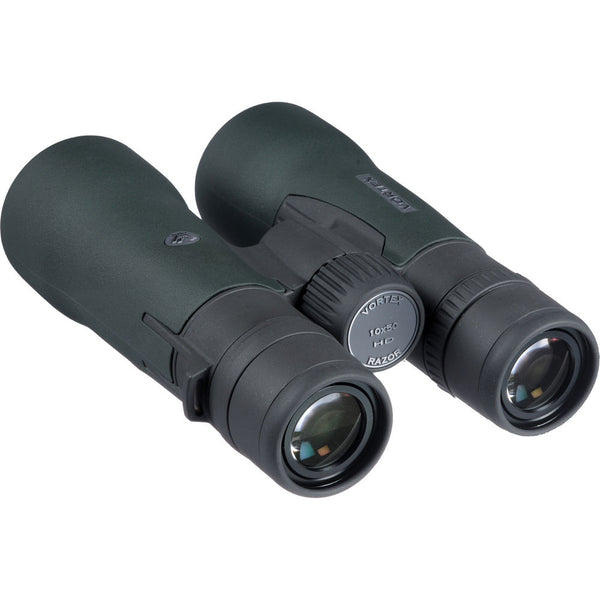 The Vortex 10x50 Razor HD binocular has an eyeglasses-friendly 16.5 mm eye relief with twist-up eyecups offering multiple click-stop positions to suit any user's viewing needs.