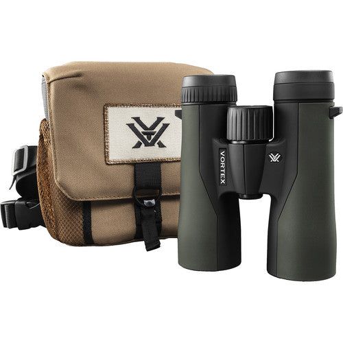 The Vortex Crossfire HD 8x42 comes with a GlassPak harness and the Vortex VIP warranty.
