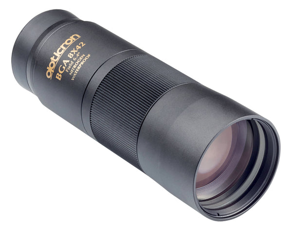 The Opticron 8x42 BGA monocular's 42 mm objective lens is great for use in low light conditions.