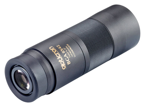 The Opticron 8x42 BGA monocular has 19 mm of eye relief to accommodate people who wear glasses.