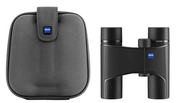 The Zeiss 10x25 Victory Pocket binocular comes with is own carrying case.