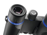 The generous eye relief of the Zeiss 10x25 Terra ED Pocket makes it a good binocular for people who wear glasses.