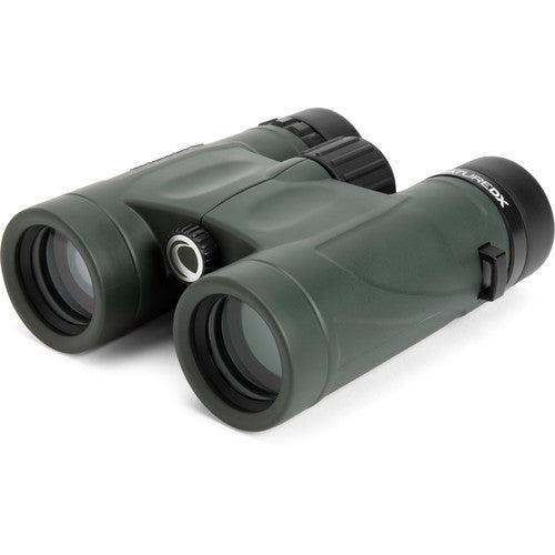 The Celestron 8x32 Nature DX binocular features quality optics for bird watchers and more.