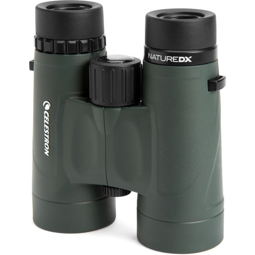 The Celestron 8x42 Nature DX binocular features a birder-friendly close focus of 6.5 feet.