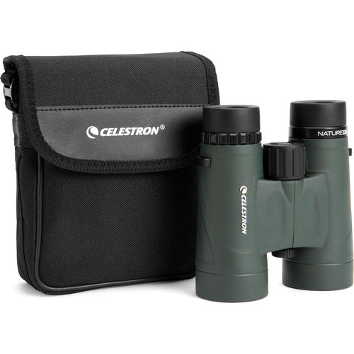 The Celestron 8x42 Nature DX arrives with its own branded carry and storage case.