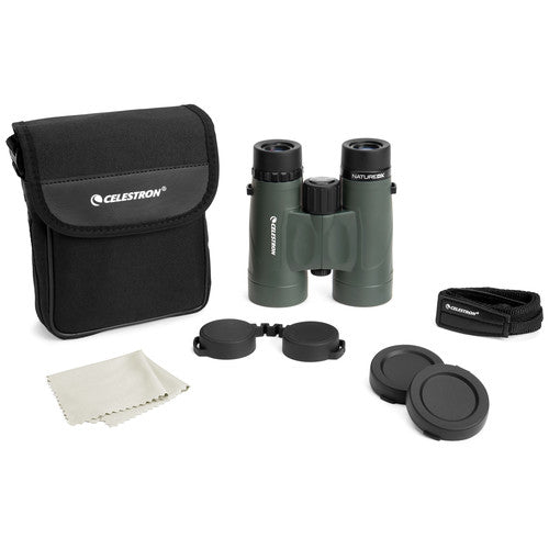 The Celestron 8x42 Nature DX comes with an array of binocular accessories.