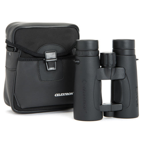 The Celestron 8x42 Granite ED binocular arrives with its own rugged carrying case for travel and storage.