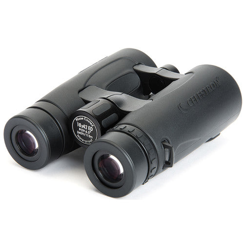 People who wear glasses can use the Celestron 10x42 Granite ED binocular thanks to its 15 mm eye relief.